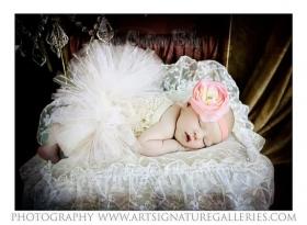 Pink Shabby Floral Headband