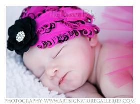 Hot Pink & Black Feather & Flower Headband
