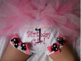 Polka Dot Birthday Girl Personalized Diaper Cover