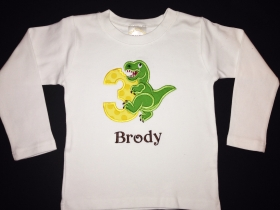 Dinosaur Bite Personalized Birthday Shirt