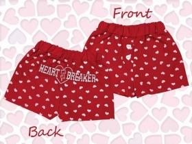 Valentine Boy's Red & White Hearts Boxers Lil Heartbreaker (6-12m)