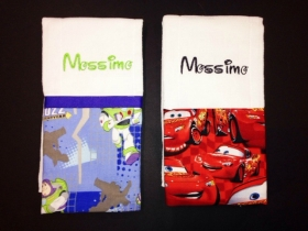 Cars & Buzz Personalized Burp Cloth