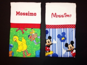So Mickey & Sesame Personalized Burp Cloth