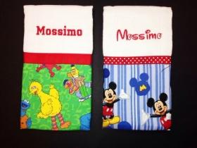 So Mickey & Sesame Personalized Burp Cloth