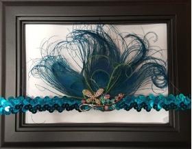 Peacock Blue Chiffon Petti Skirt