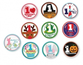 Special Occasion Holidays Sticker Set Boy or Girl