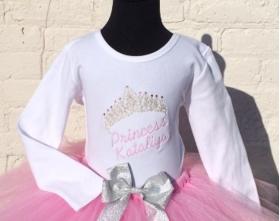 Princess Personalized Crystal Tiara Shirt