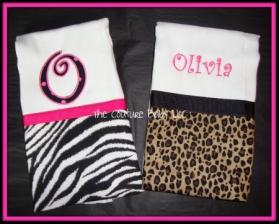 Animal Print Burp Cloths