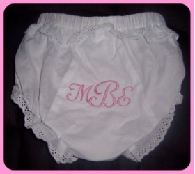 Monogram Embroidered Diaper Cover