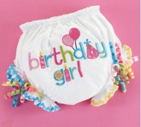 Birthday Girl Diaper Cover