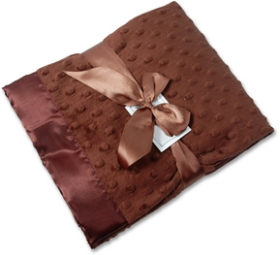 Chocolate Minky Personalized Blanket