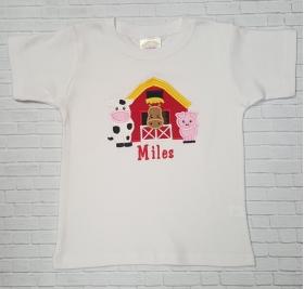 Boy Personalized Farm Barnyard Animals Shirt or Onesie
