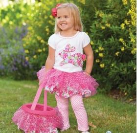 Easter Bunny Pink Tutu Skirt Set