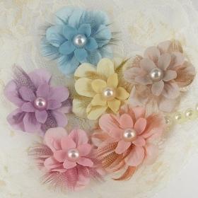 """Choice of Color"" Sweet Pastel Flower Headband"