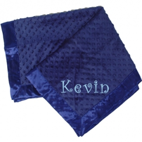 Navy Blue Minky Personalized Blanket