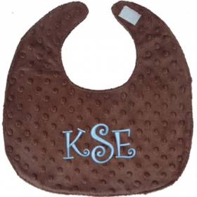 Customized Embroidered Bib with Monogram only