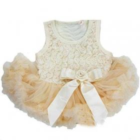Lavender or Ivory  Ruffle Rosette Petti Skirt Onesie