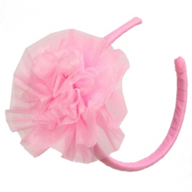 Big Bow Back Dress Hot Pink/Pink Lady Matching Headband
