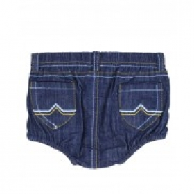 2-Pocket Denim Rugged Butts Bloomer Diaper Cover