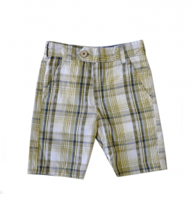 Chambray and Dobby Plaid Reversible Shorts