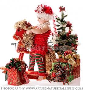 Merry Christmas Red & Green Legwarmers