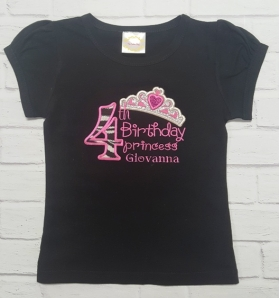 Birthday Princess Personalized Top Age 1, 2, 3, 4, 5, 6