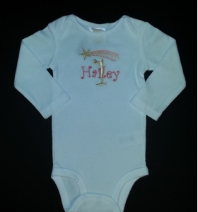 Shooting Star 1st Birthday Personalized Onesie or Shirt