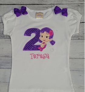 Oona Bubble Guppie Personalized Birthday Shirt