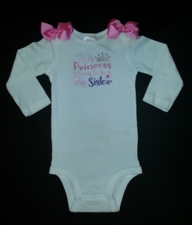 This Princess Is Going To Be a Big Sister Onesie or Shirt