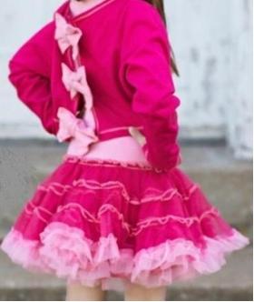Big Bow Back Dress Hot Pink/Pink Lady back