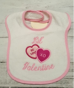 Lil Valentine Sweethearts Girls Valentine Bib