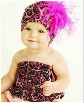 Pink Leopard Pipette Tube Top & Headband Set