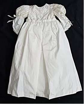 L'Pety Canar Ivory Silk Juliette Style Pearl Christening Gown & Hat Set (6 Months)
