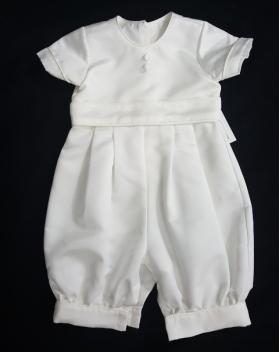 Boy's Christie Helene Ivory Christening Suit Hat Bib Booties (9m)