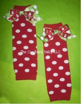 Polka Dot Christmas Legwarmers