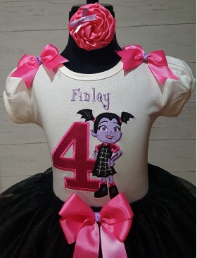 Vampirina Pink & Lavender Birthday Ribbon Tutu 3 Piece SetVampirina Pink & Lavender Birthday Ribbon Tutu 3 Piece Set