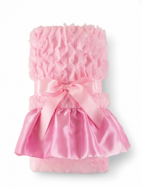 Pink Chiffon Minky Satin Blanket