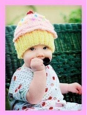 Cupcake Knit Child Hat
