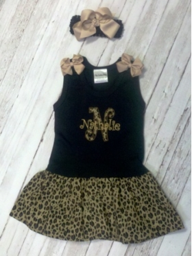 Leopard Tank Dress & Bow