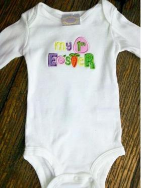 My 1st Easter Custom Onesie
