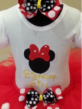 Minnie Mouse Personalized Birthday Girl Shirt