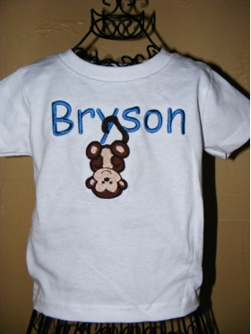 Boy's Customized Shirt with Name and Animal Applique