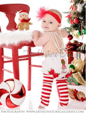 Christmas Sweet Lollipop Personalized Diaper Cover