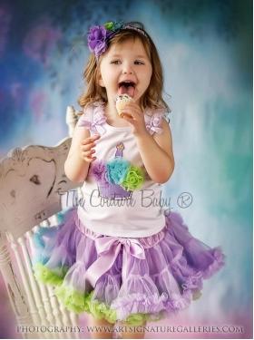 Sweet Cakes Cupcake Lavender, Aqua & Lime Petti Skirt 2 Pc Set