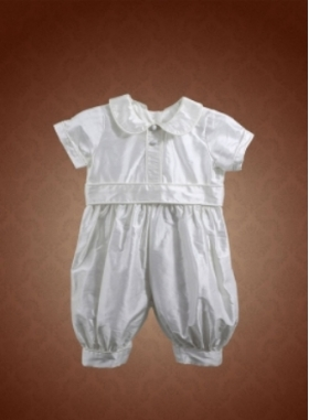 Travis Christening Outfit Front by Christie Helene