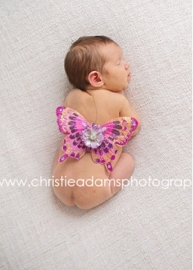 Purple & Hot Pink Pizazz Newborn Wings