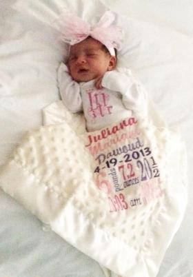 Birth Info Keepsake Custom Blanket
