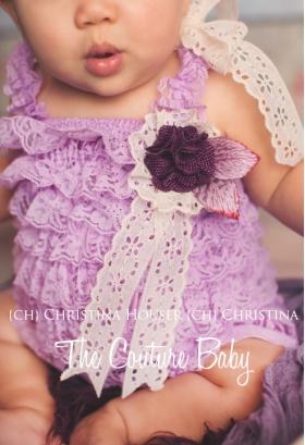 Lavender Lace Petti Romper & Top Hat Photo Prop Set