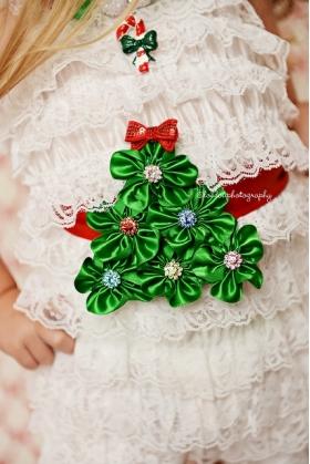 Oh Christmas Tree Sash and Petti Romper Set