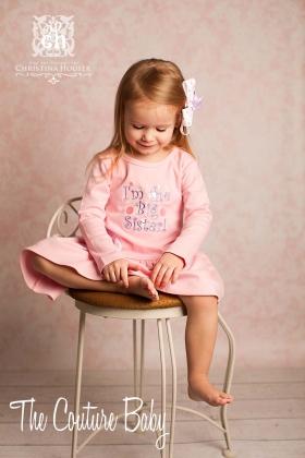 I'm the Big Sister Pink Dress